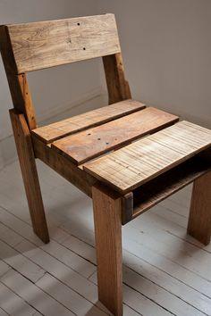 Chaise avec une palette