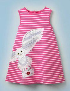 Hedwig Kleid Mit Streifen Und Applikation - Knallrosa/Naturweiß Hedwig, Boden Uk, Mini Boden, Girls Dresses, Summer Dresses, Toddler Girl Outfits, Sorbet, Pink Girl, Dress Making