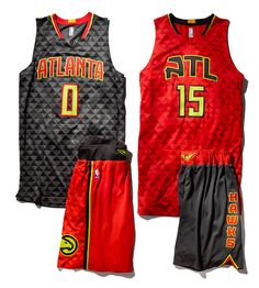 The new font for the Atlanta on the two main uniform tops, the ATL on the alternate road look and the Hawks down the short side were custom made. Description from si.com. I searched for this on bing.com/images