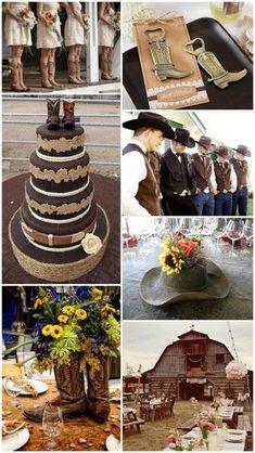 Western Cowboy Country Theme Wedding Ideas from  #timelesstreasure.theaspenshops #CountryWedding