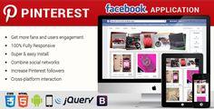 Facebook Pinterest Responsive Application . Facebook Pinterest Responsive Application