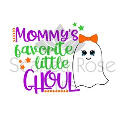 Mommys Favorite little Ghoul Halloween SVG cut file for silhouette cameo and cricut by ScarlettRoseCuts on Etsy Halloween Vinyl, Halloween Silhouettes, Halloween Quotes, Easy Halloween Costumes, Halloween Projects, Halloween Shirt, Fall Halloween, Baby First Halloween, Halloween Celebration