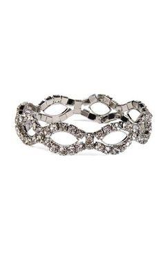 oblong rhinestone bracelet $10.50