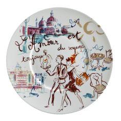 Assiette plate L Amour | Geneviève Lethu