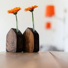 Natural and cool: https://www.etsy.com/listing/185978892/wooden-vase-with-a-test-tube-flowers-in?ref=teams_post