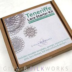 Teneriffe Lace is one of the easier forms of needle lace and the roundels that are created work perfectly as buttons and other embellishments. The template was designed with smaller roundels in mind- allowing the user to learn a new skill and make pretty
