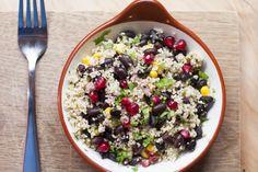 Black bean, red onion, crunchy corn & cilantro couscous