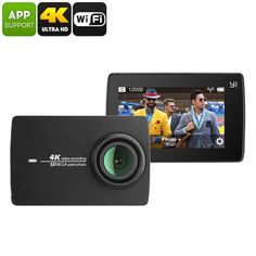 YI II International Version Sports Camera - 4K Video, Ambarella A9SE Chipset, 1/2.3-Inch 12MP CMOS Sensor, WiFi, 155-Degree Lens - YI II International Version Sports Camera lets you shoot stunning 4K video at 30fps. It features 9 shooting modes and supports WiFi.