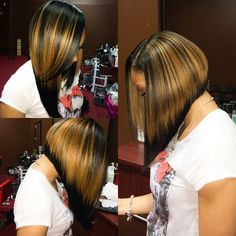 hair extensions hair styles side part bob sew in hair slayed slayyed hair 5673