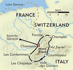 Tour du Mt Blanc 7 day itinerary