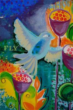 "From Caryn Duncan - Fly : original painting 11""x14""also available in prints"