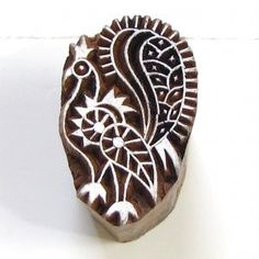Wood block stamps are an ancient Indian cultural heritage handicraft. Indian Block Print, Indian Prints, Indian Textiles, Indian Patterns, Textile Patterns, Textile Prints, Textile Art, Hand Printed Fabric, Printing On Fabric