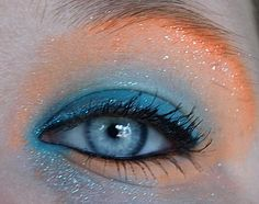 Mermaid make up by beauty_rushx, via Flickr