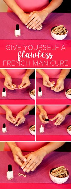 Who knew that a simple rubber band would be the secret to amazing nail art?