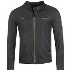 Cool men's fashion? Can you get cooler then a sexy leather jacket? Firetrap Route Leather Biker Jacket.