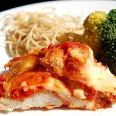 Basic Chicken Parmigiana @ http://allrecipes.com.au