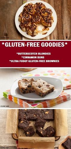 Gluten-free Goodies! Butterscotch Blondies, Cinnamon Buns & Ultra Fudgy Gluten-Free Brownies from whole foods chef Ricki Heller - http://abcn.ws/1CIqLNE