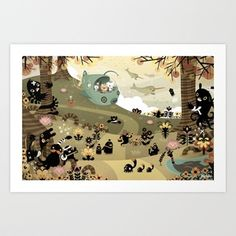 The Octonauts Sea of Shade Art Print by Meomi