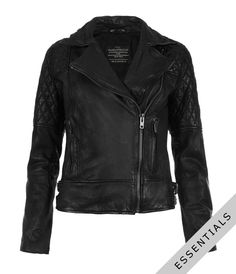 Walker Leather Biker Jacket    $575.00    I'm not surprised that my quest for leather jackets would lead me back to All Saints.