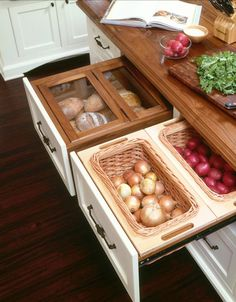 Smart Kitchen Solutions: Neat Drawer Storage for Onions, Potatoes, Even Bread — Kitchen Inspiration