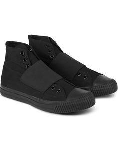 SASQUATCHFABRIX. Black High-cut Slip-on Sneakers