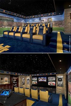 Here come the fighting Irish! Tour this Notre Dame themed theater! >> http://www.hgtvremodels.com/interiors/cedia-2012-home-theater-finalist-here-come-the-irish/pictures/index.html?soc=pinterest