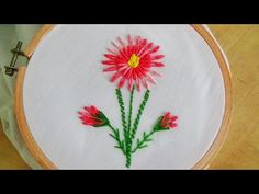 Hand Embroidery: Bullion Knot Stitch & Bullion Lazy Daisy Stitch - YouTube