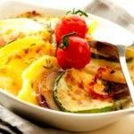 Aardappel en groenten ovenschotel