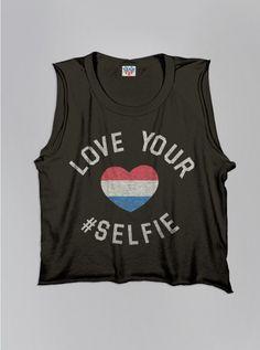 Kids Girls Love Your #Selfie Tank