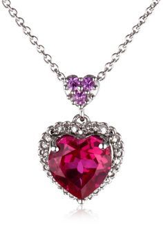 d7dab3067ee9 Pink Heart Necklace Cool Necklaces