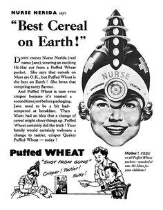 "Quaker Puffed Wheat ""Nurse Nerida"", 1955"