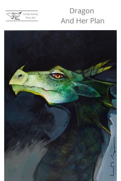 """Dragon lifted her head to catch the sweet, earthy scent that drifted in the breeze. As she breathed in the fragrance of Macintosh apples and cinnamon, a sly smile tugged at the corner of her mouth. All buttery and sugar crusted, the freshly baked pie sat cooling on the window sill. Acrylic on panel 8"""" x 6"""" Freshly Baked, Window Sill, Apples, Earthy, Breeze, Cinnamon, Fragrance, Pie, Dragon"""
