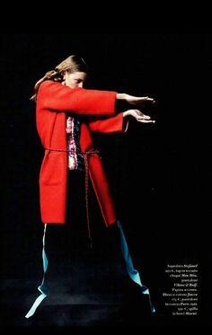 Block -buster color per il cappotto rosso Stefanel primavera/estate 2015