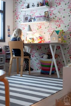 bright fun girls room