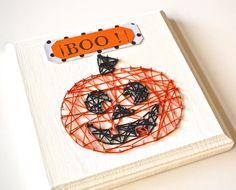 Happy Pumpkin String Art | FaveCrafts.com