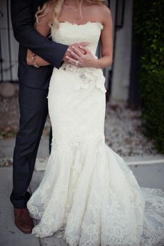 Ruffled Wedding Gown for the Glam Bride Wedding Dress 2013, Cheap Wedding Dress, Wedding Attire, Wedding Wishes, Wedding Bells, Bridal Gowns, Wedding Gowns, Lace Wedding, Chic Wedding