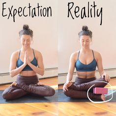 Lotus Pose - yoga expectation vs reality for beginners. Lotus Pose – yoga expectation vs reality for beginners… Lotus Pose – yoga expectation vs rea Yoga Bewegungen, Yoga Moves, Yoga Meditation, Yoga Fitness, Sport Fitness, Pilates, Yoga Inspiration, Lotus Pose Yoga, Yoga Props