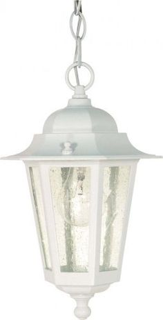 Nuvo Lighting Single Light Down Outdoor Pendant From The Corners White Pendants