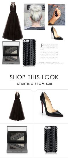 """""""Black Glam 👩👄💅"""" by kylie-jenner-7 ❤ liked on Polyvore featuring Jenny Packham, Christian Louboutin, Burberry and Savannah Hayes"""