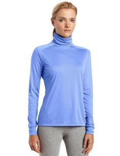 Hot Chillys Women's Peach Skins Solid T-Neck « Clothing Impulse