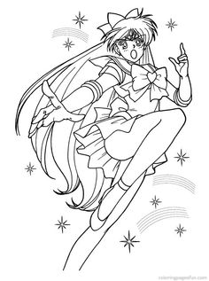Sailor Venus Coloring Page