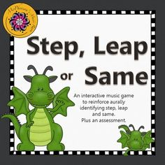 Reinforcing melodic direction: steps, leaps or staying the same is now fun! Your elementary music students will love listening and then selecting the correct answer in this interactive game. You will love the easy assessment! Excellent resource for the Orff and Kodaly classroom.