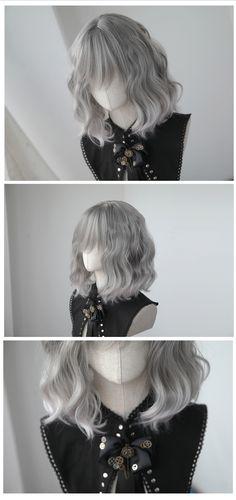 [Kasou Wig]  Canelé - ✿ Pinky Silver ✿ cute lolita wig