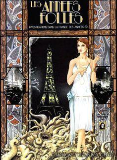 Les Années Folles Gatsby Theme, Gatsby Party, Cthulhu, Vintage Love, Vintage Images, Image Paris, Jazz, Famous French, Retro Logos