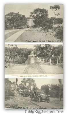The Plank Road to City Beach, my Dad's told me about this for years! Perth Western Australia, City Beach, Wild West, Plank, Old Photos, Vietnam, Cities, Wall Art, History