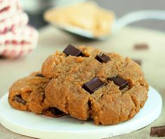 Peanut butter chocolate chip gingerbread christmas cookies!