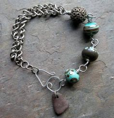 On the 4th day of Christmas: Lampwork and Chain Charm bracelet