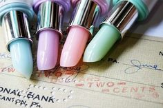 Pastel lipstick pens... Don't they look just like Lime Crime lipsticks??
