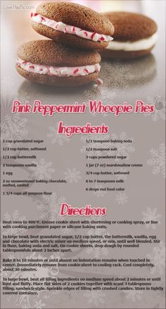 Pink peppermint whoopie pies recipes christmas