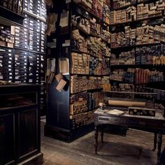 """""""Stephenie McMillan, the films' set decorator, populated the shop with 17,000 wand boxes! """"Think of a normal-sized shop and then think of storerooms at the…"""""""